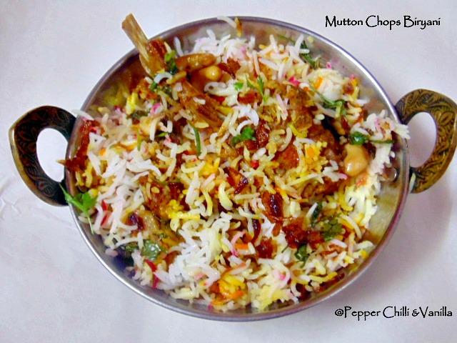 1 2 Kg Mutton Chops  Tsp Ginger Garlic Paste 3 Thinly Sliced Onions 1 4 Tsp Turmeric Powder  Ts Red Chilli Powder Mutton Masala