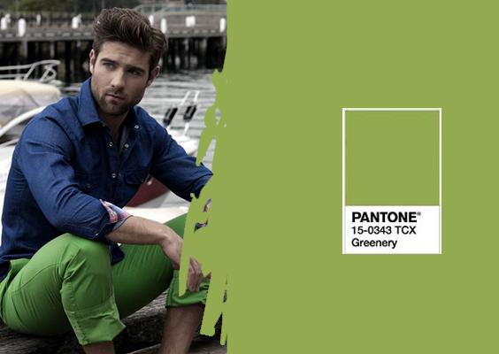 Look Masculino Verde Greenery