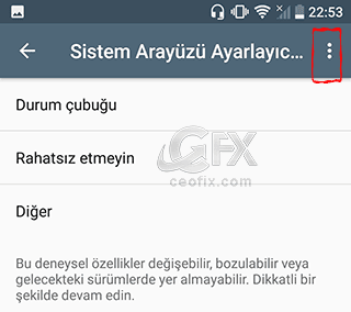 Android'de sistem arayüzü ayarı nasıl kapatılır?www.ceofix.com