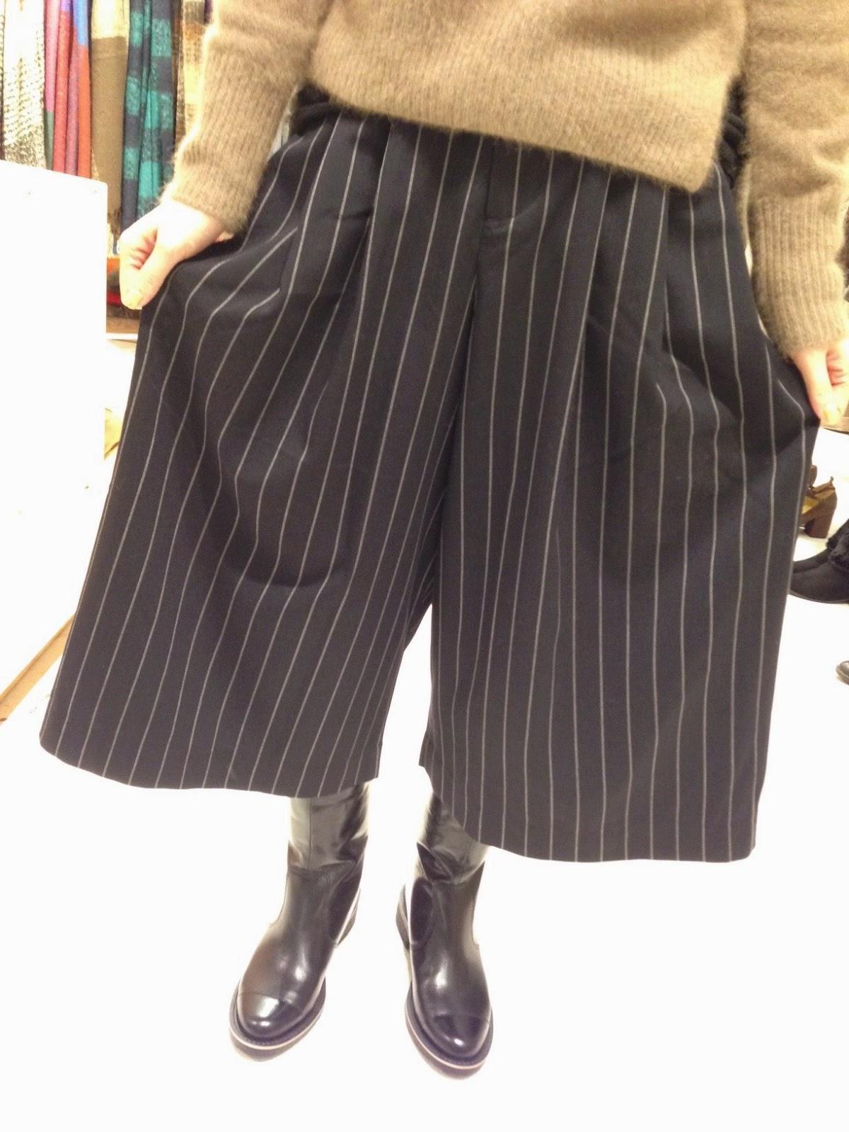 pas de calais【パドカレ】レトロパイルインレーコート・ストライプガウチョパンツ◆香川・綾川店