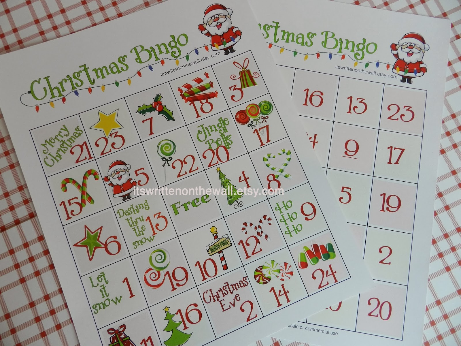 It S Written On The Wall Christmas Bingo A Fun Game For Christmas Parties At Home Or School