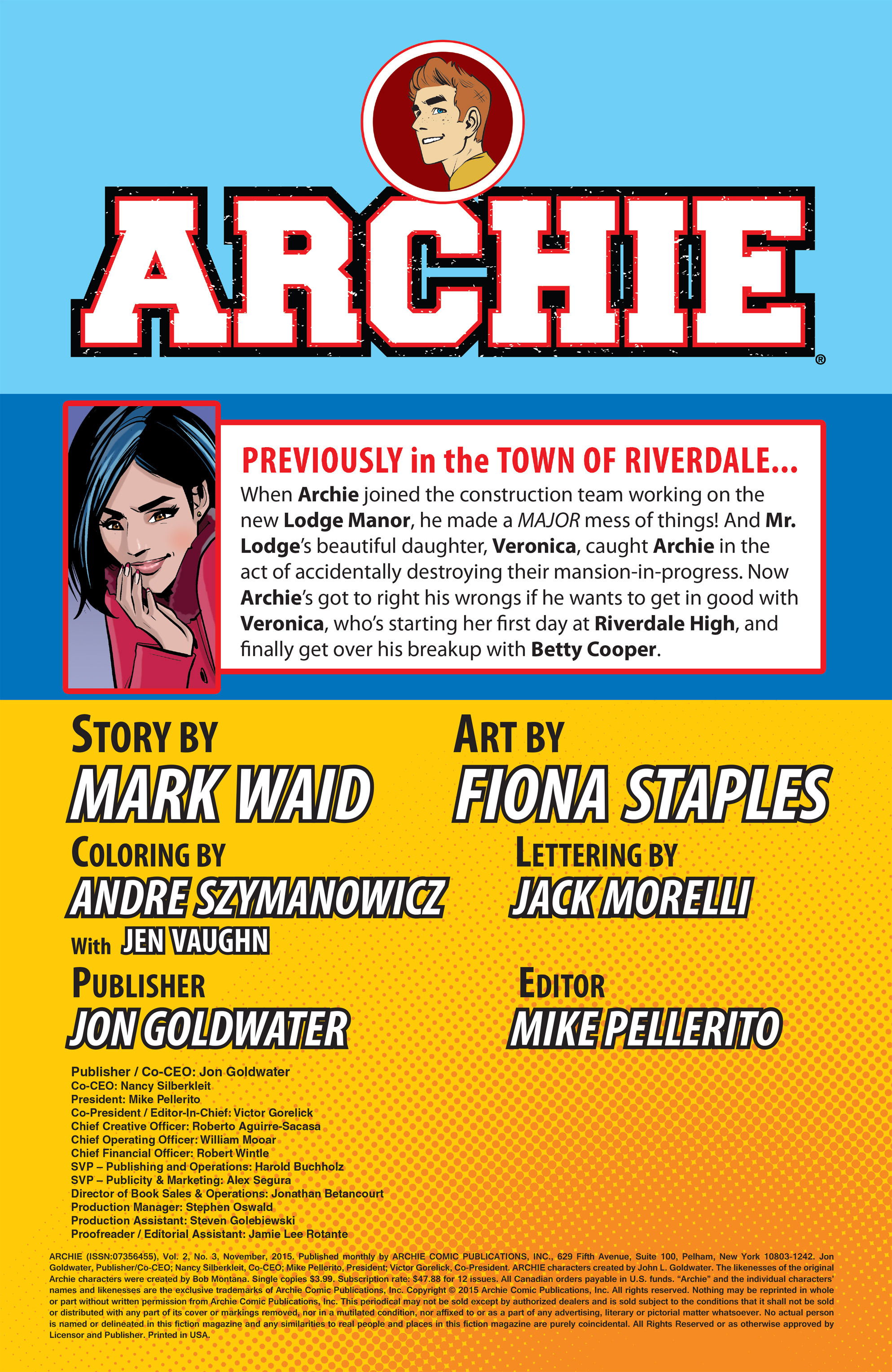 Read online Archie (2015) comic -  Issue #3 - 2