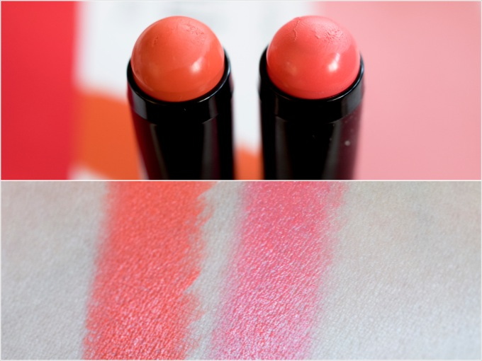 Die neuen L'Oréal Infaillable Blush Sticks, Swatch, Pinkabilly, Tangerine Please