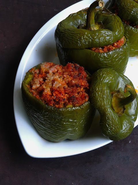 Bellpepper with Minced meat stuffing