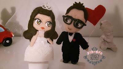 sposi in feltro san valentino idee