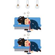 電車内の居眠りのイラスト