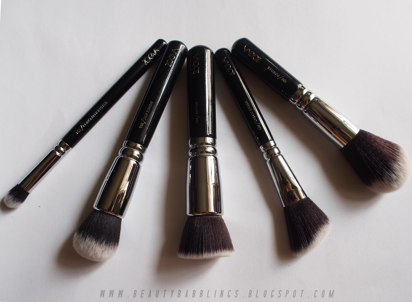 Zoeva Complete Set Review face brushes