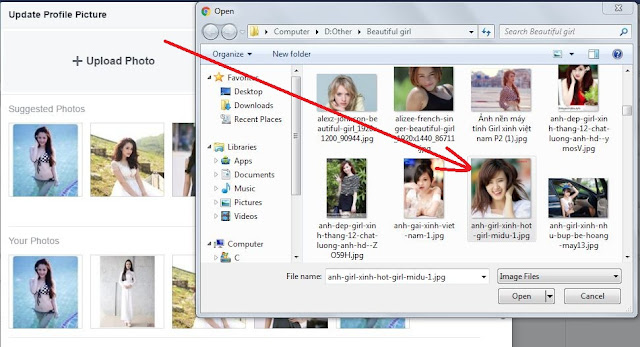 choose photo upload facebook