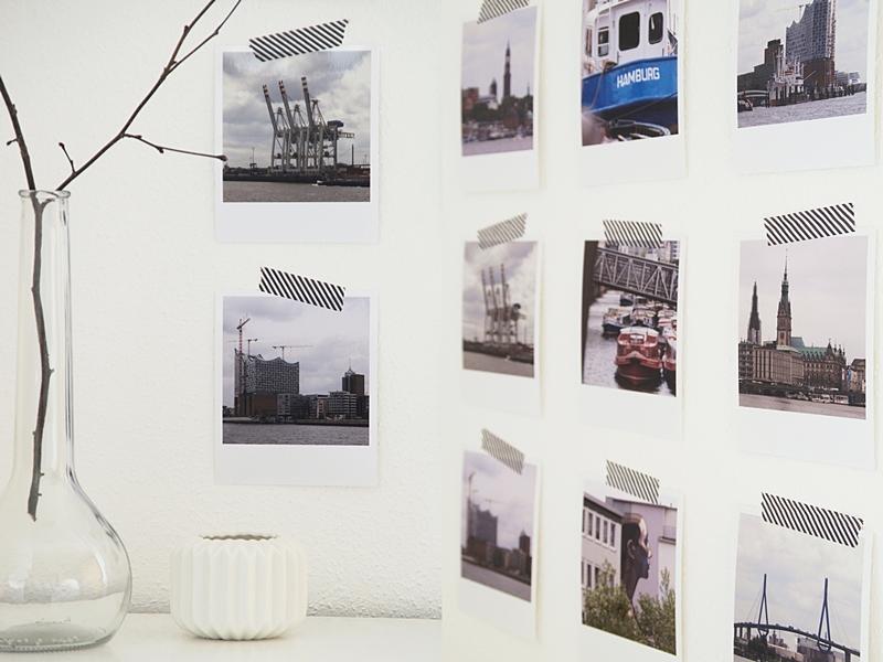 Schnelle und einfache DIY Wanddeko im skandinavischen Stil mit Fotos im Polaroid-Stil