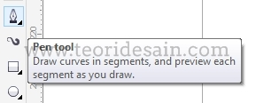 bentuk pen tool pada coreldraw