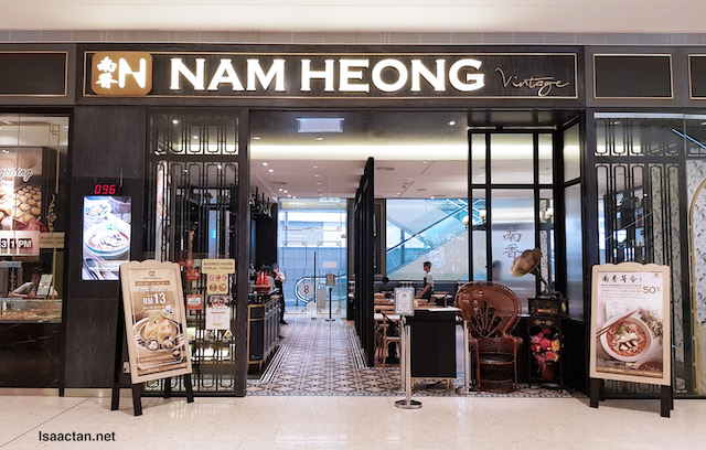 The frontage of Nam Heong Vintage at Pavilion Elite KL