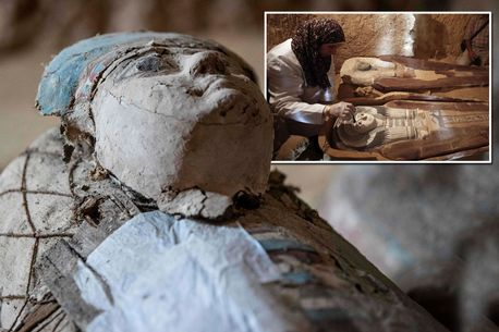 Egyptian archeologists have revealed two 4,500-year-old tombs at the Pyramids of Giza