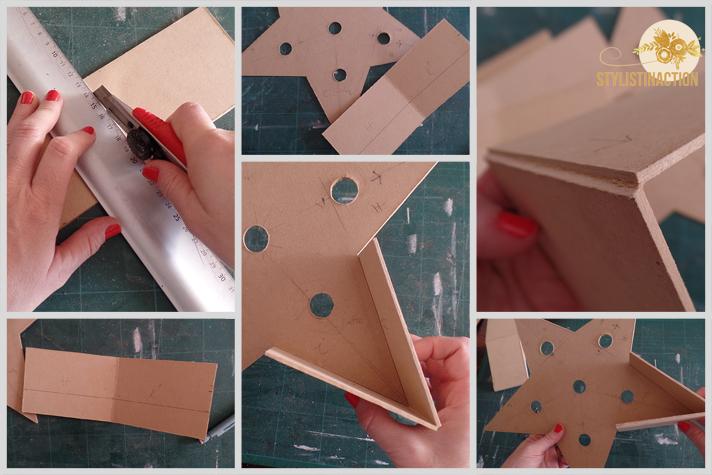 DIY para hacer una estrella de marquesina o marquee light. Es muy facil de hacer. Los bordes se hacen en un material mas grueso para que tenga mas cuerpo y parezca más firme