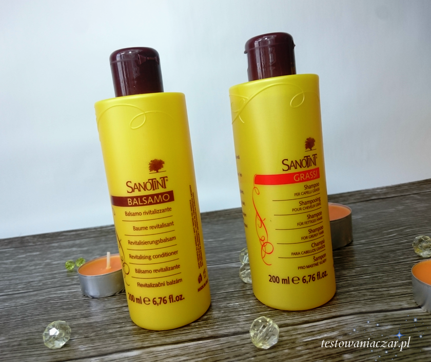 Szampon i balsam do włosów Sanotint