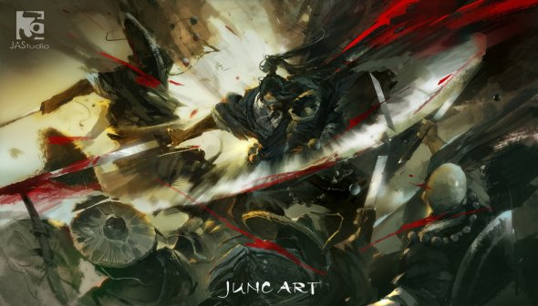 Wenjun Lin juncArt ilustrações fantasia medieval chinesa games legend of the cryptids
