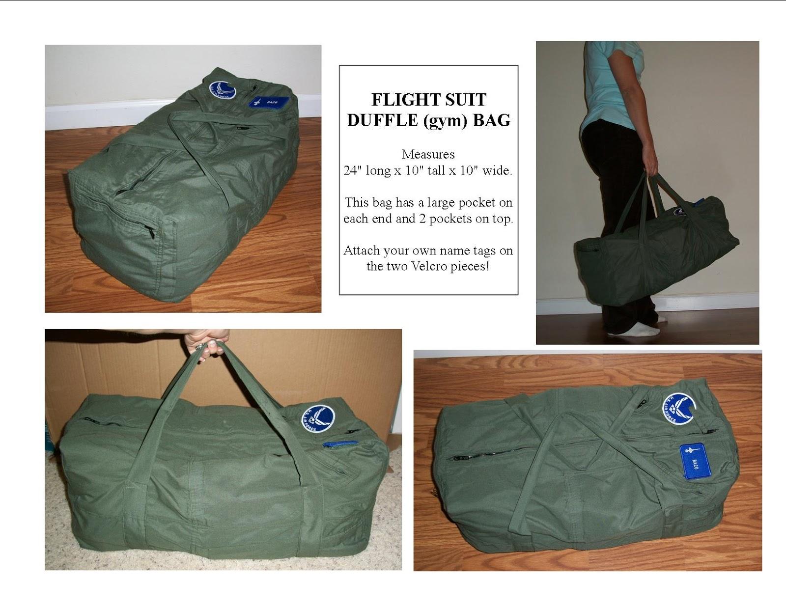348e8697e8 A Simple Dimple  Flight Suit Duffle (gym) Bag