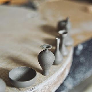 Piezas de ceramica hechas a mano