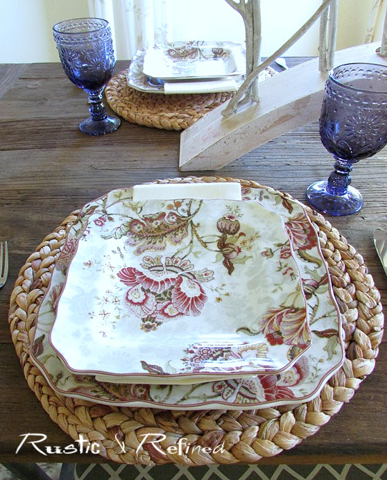 Setting a quick and easy Fall Table