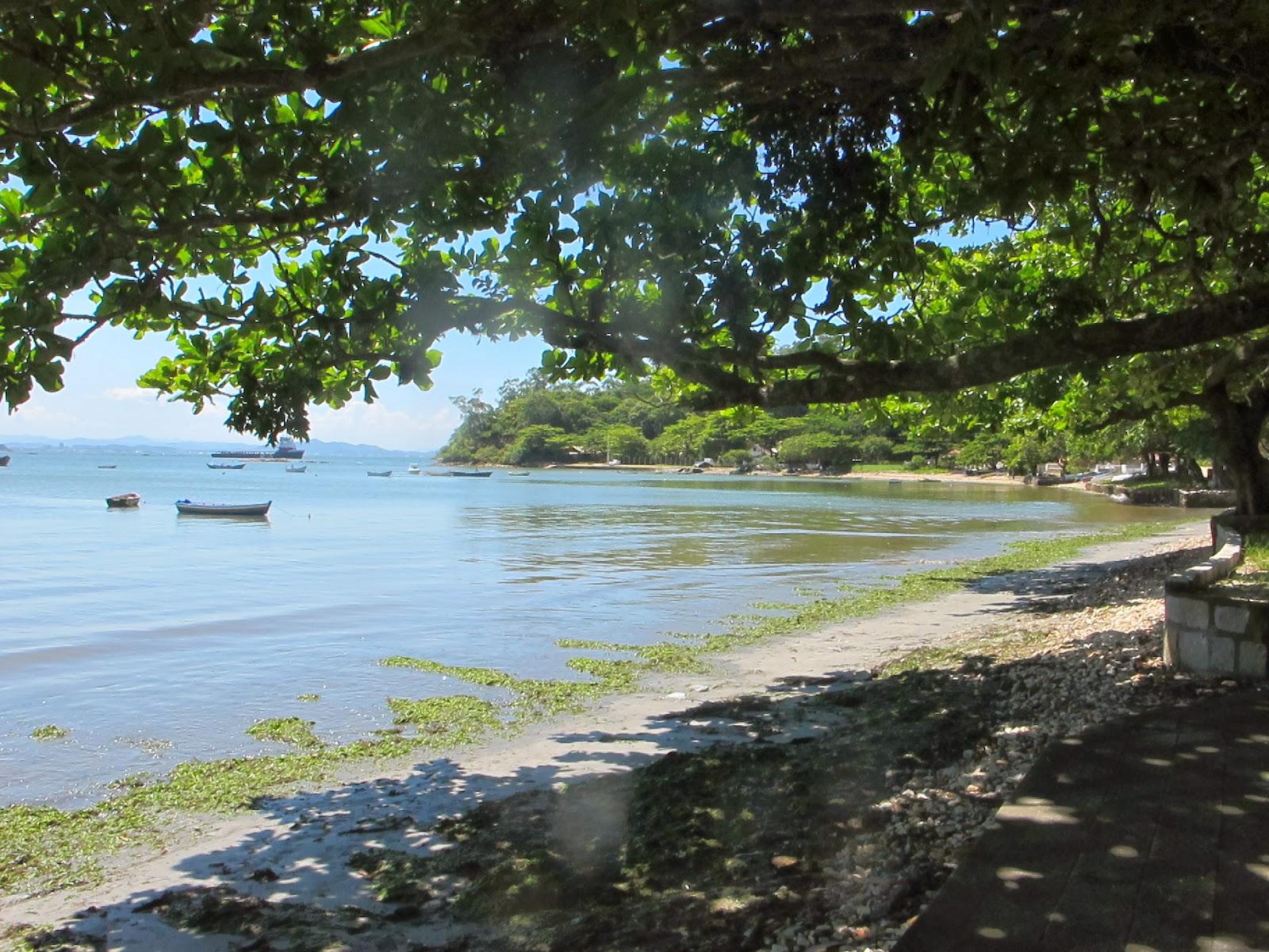 Praia do Cascalho, em Penha, no litoral catarinense.