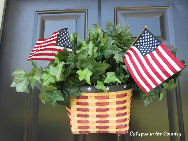 Simple Door Decor for the 4th of July