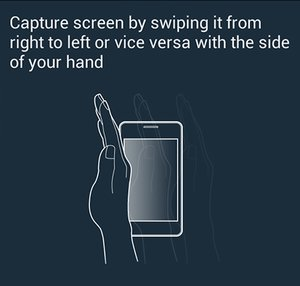 Motion Palm Swipe to Capture Screenshot in Galaxy Grand Duos 2