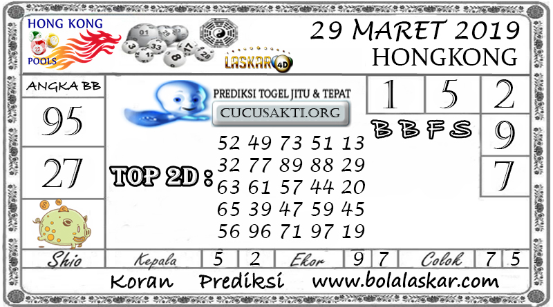 Prediksi Togel HONGKONG LASKAR4D 29 MARET 2019