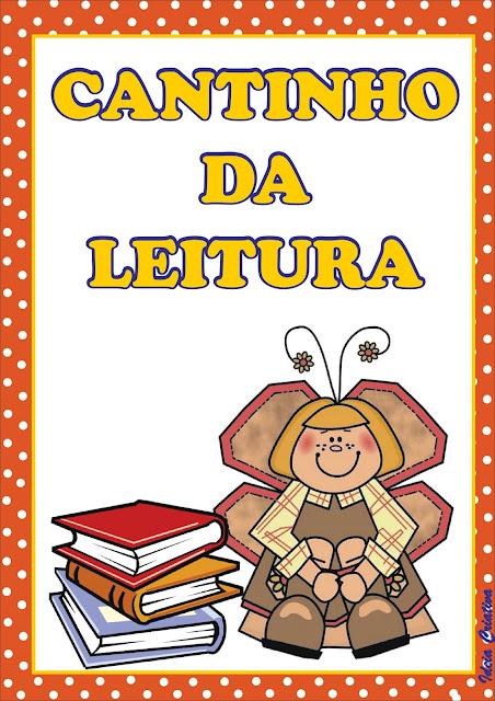 Cartaz rotina CANTINHO DA LEITURA
