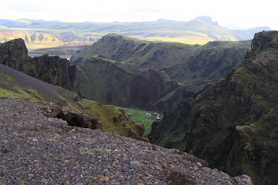 View of Þakgil (Thakgil) from the Trail