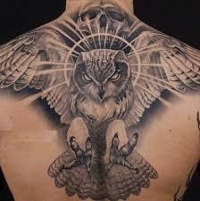 Art Magazine Back Tattoo Design