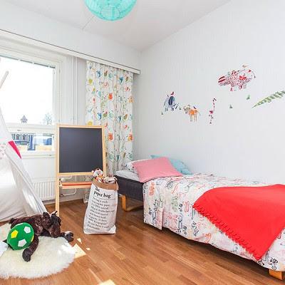 dekorasi kamar tidur anak yang simple dengan konsep pendidikan