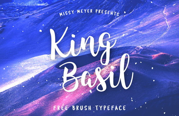 king basil free lettering style font