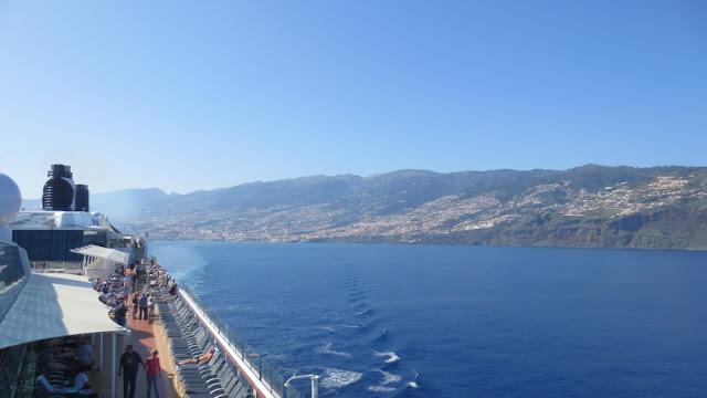 Blick zurück auf Madeira