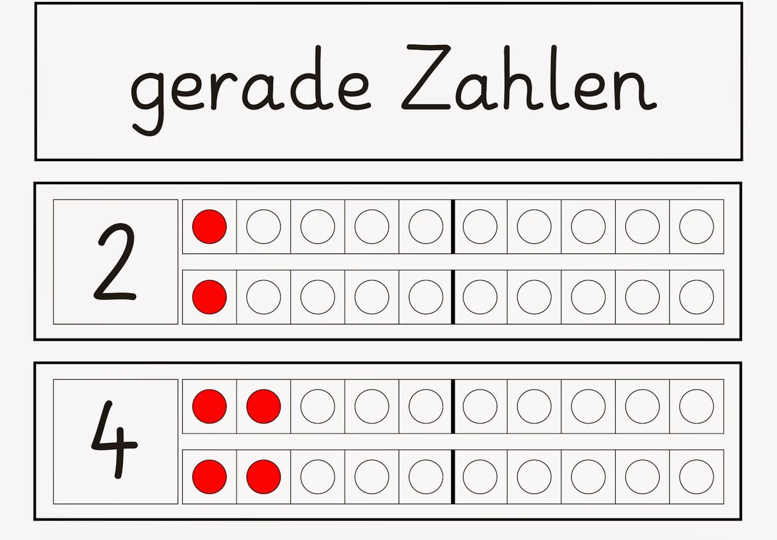 Tolle Geraden Und Ungeraden Anzahl Arbeitsblatt Für Die 2Klasse ...