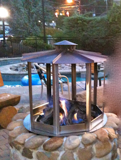 Fire Pit Near the Lazy River Tennessee
