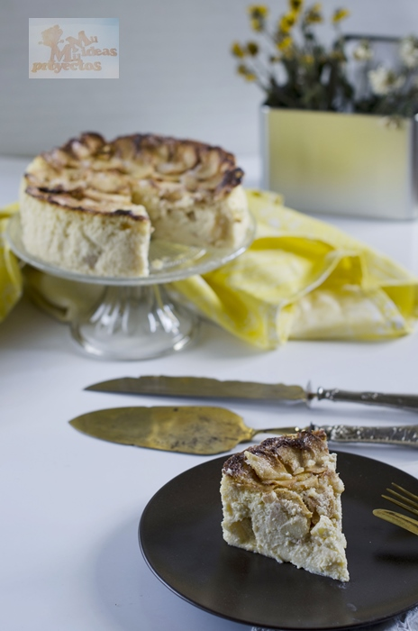 receta de la tarta de manzana y queso