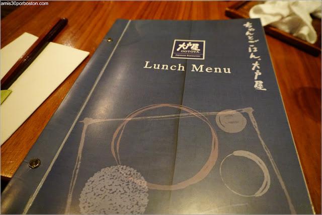 Menú de Almuerzos de Ootoya, Nueva York
