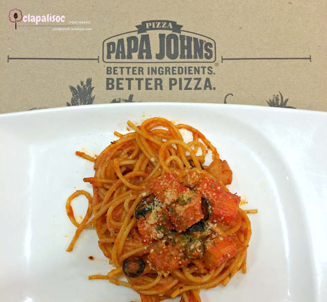 Mediterranean Seafood Linguini pasta from Papa John's Pizza PH