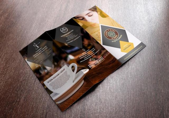 kahve ürünleri için broşür tasarımı
