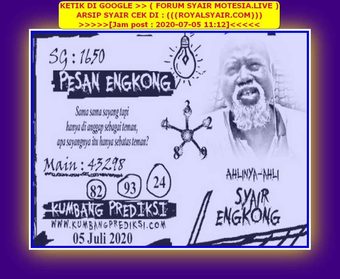 Kode syair Singapore Minggu 5 Juli 2020 180