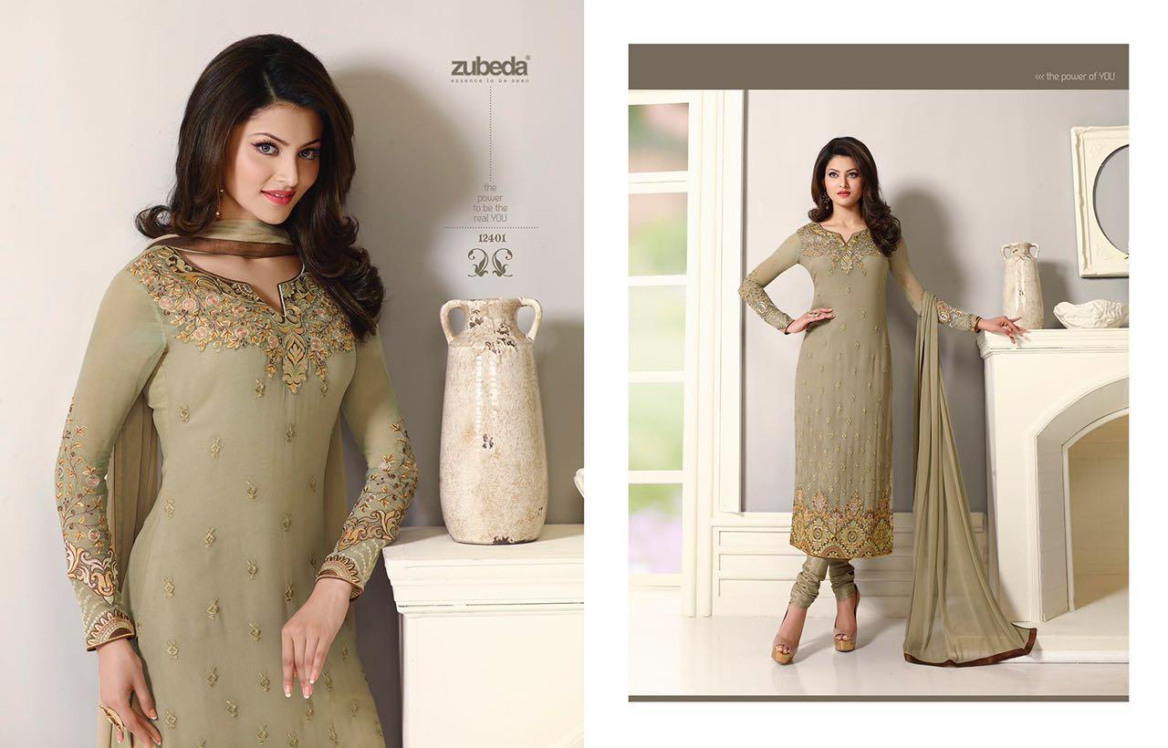 Zubeda Vol 24 – Straight Long Cut Designer Embroidery Salwar Kameez