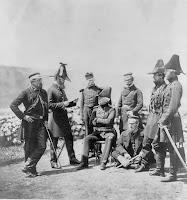 General Brown and staff, Crimean War, 1855