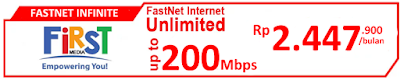 Paket Internet First Media FasNet Infinite (Promo)