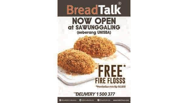 Breadtalk Buka Stand-Alone Outlet Pertama di Sawugaling