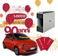 Logo Balocco per i suoi ''90 anni'' ti premia con buoni Privalia, macchine da caffè Vergnano, forniture e Fiat500