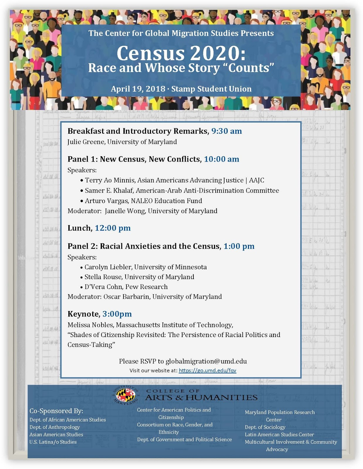 UMD GVPT E-News: Upcoming Conference - Census 2020: Race and