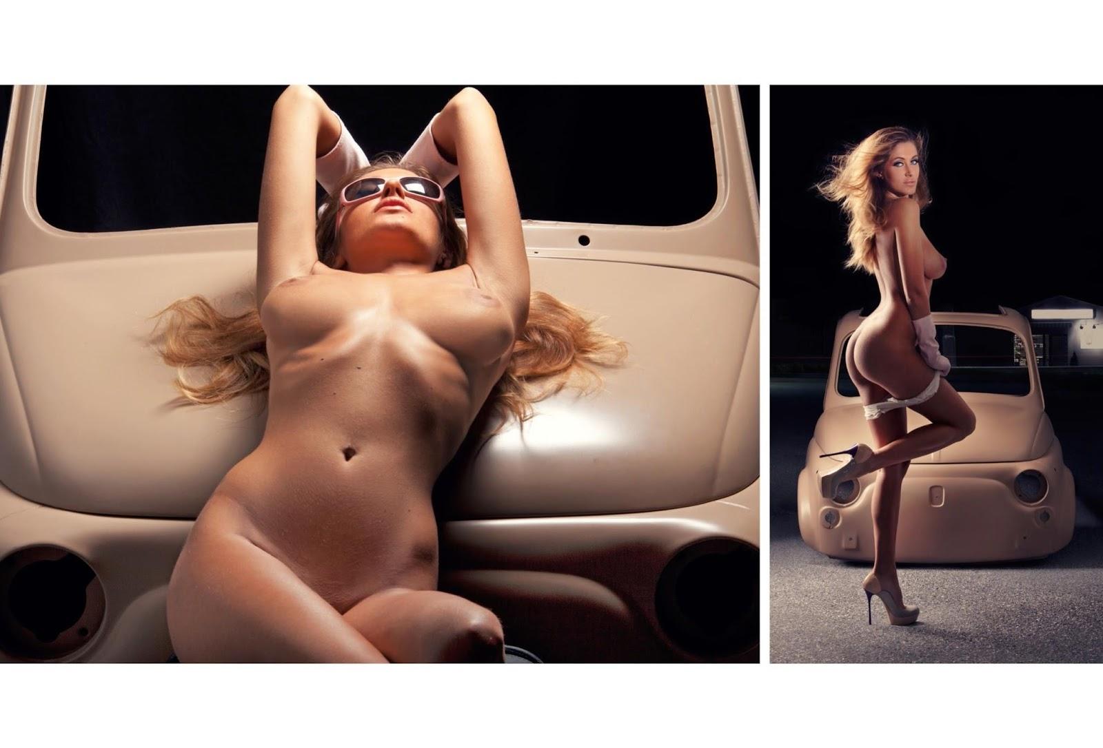 Big Boobed Models Elena Riz Is Naked On Playboy Italy