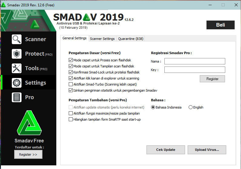Black List Key Smadav Pro