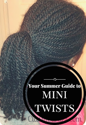 mini twists on natural hair
