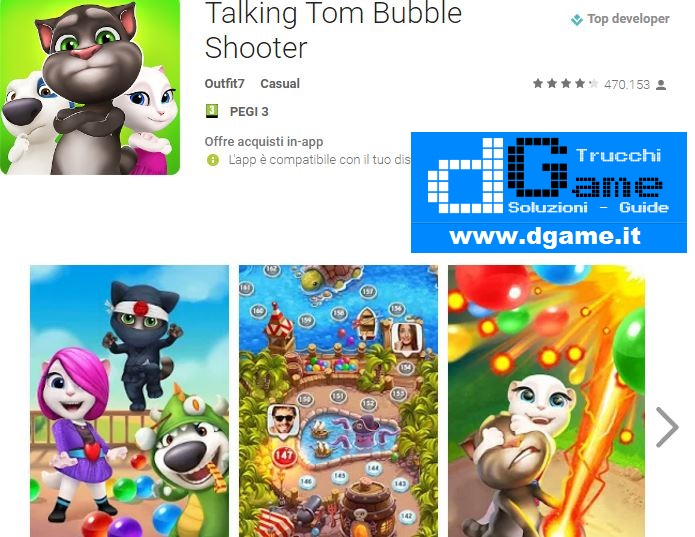Trucchi Talking Tom Bubble Shooter Mod Apk Android v1.4.2.126