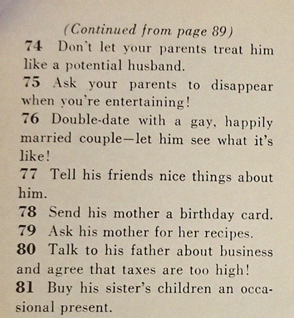 A 1958 Article Titled '129 Ways to Get a Husband' Shows How Much Times Have Changed